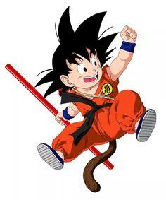 Goku from the Dragon Ball Anime Dragon Ball Gt, Dragon Ball Z Shirt, Goku Birthday, Ball Birthday, Kid Goku, Manga Anime, Anime Art, Manga Dragon, Goku Vs