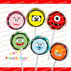 YO gabba MONSTERS monster birthday party by PrintablePartybyFer, $2.99