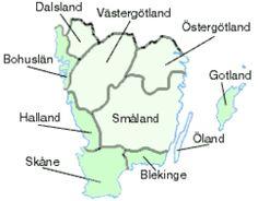 Götaland – den sydligaste av Sveriges tre landsdelar, och består av landskapen Blekinge, Bohuslän, Dalsland, Halland, Skåne, Småland, Västergötland, Östergötland, Gotland och Öland.