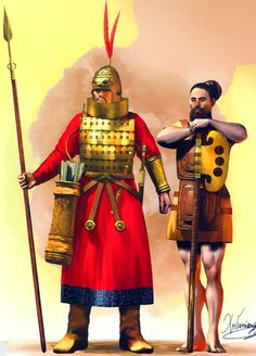 Chinese soldiers of the Zhou Dynasty, Ancient China