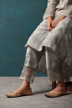 Good Earth – Stylish Sustainable Luxury Retail | Goodearth.in Indian Attire, Indian Wear, Indian Outfits, Salwar Designs, Kurta Designs Women, Stylish Dress Designs, Stylish Dresses, Salwar Pattern, Sheer Pants