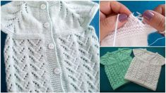 Seamless Knitted Baby Vest Making (One-Piece Collar Start) - Knitting How To Start Knitting, Knitting For Kids, Knitting For Beginners, Knitting Videos, Knitting Projects, Baby Knitting Patterns, Knitted Slippers, Knitted Hats, Everyday Makeup Routine