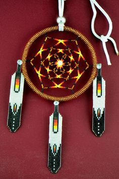 Beaded Prayer Feather Dream Catcher | Navajo Dream Catcher | Native American Dream Catcher
