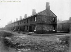 Barrack Street Corporation Dwellings, Hulme, 1916 by mcrarchives, via Flickr Old Pictures, Old Photos, Manchester, Old M, When I Dream, Garden Posts, Salford, Slums, History Facts