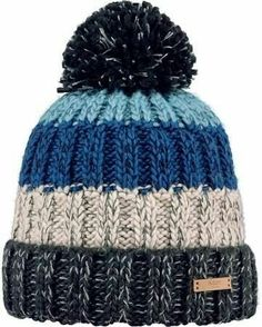Buy Barts Wilhelm Beanie, One Size, Multi from our Men's Hats, Gloves & Scarves range at John Lewis & Partners. Loom Knitting, Knitting Patterns Free, Knit Patterns, Free Knitting, Baby Knitting, Bonnet Ski, Knit Crochet, Crochet Hats, Bobble Hats