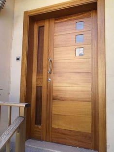 Ideas main door design entrance front porches for 2019 Wooden Front Door Design, Double Door Design, Wooden Front Doors, Oak Doors, Entry Doors, Modern Entrance Door, Main Entrance Door Design, Home Door Design, Door Design Interior
