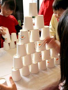 紙コップ早積み競争 クリスマスアクティビティ キッズパーティー演出 Xmas Party, Birthday Parties, Diy And Crafts, Paper Crafts, Christmas Crafts, Christmas Ideas, Holidays And Events, Party Planning, Tableware