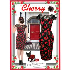 Cherry Sophistication - #retro #vintage #pinup #cherrydress #Cherry #pencil #wiggle #pinup #retro #fashion #paris #vintage #Red #hot #valentine  #girlsnight #valentinesday #retro #bodycon #sexy #reddress #cherrydress #datenight #fashion #wiggle #romance #style #pinup #classy