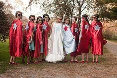 superhero wedding picture