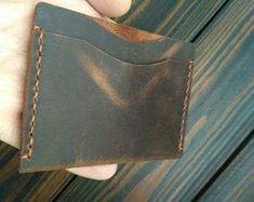 Fathers day gift card case leather wallet credit card holder gift for boyfriend dad gifts for him business card holder minimalist wallet Black Wallet, Small Wallet, Pocket Wallet, Leather Card Wallet, Minimalist Wallet, Gifts For Father, Wallets For Women, Boyfriend Gifts, Card Holder