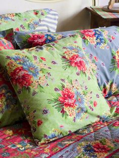 bright, colorful linens for a cottage bedroom, from April Cornell.