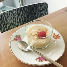 Lebanese delight: soya cream with rose . All organic, gluten and lactose free.