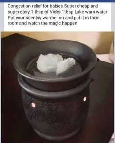 Congestion relief for babies! Omg I needed this and I have tons of scentsy… Repinned by freebies-for-baby.com #baby #pdf #babyhacks #aromatherapy