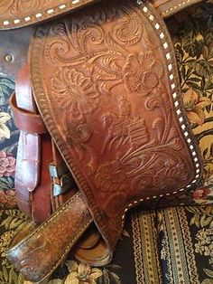 Big Horn Saddle with Barrel Racer Tooling