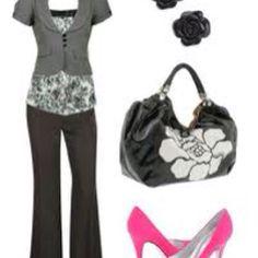 Love the pink heels.