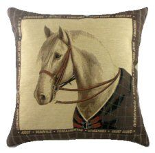 PILLOWS EQUESTRIAN ADVICE FROM A HORSE REVERSIBLE TAPESTRY THROW PILLOW