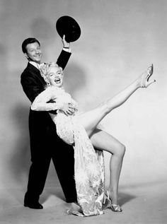 """Marilyn Monroe and Donald O'Conner, publicity photo for """"There's No Business…"""