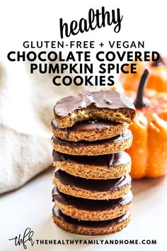 Desserts – Menus for Life Gluten Free Pumpkin Cookies, Pumpkin Spice Cookies, Quick Healthy Desserts, Clean Eating Desserts, Healthy Pumpkin, Vegan Baking Recipes, Egg Free Recipes, Real Food Recipes, Vegan Chocolate Frosting