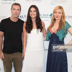 Katie Lee (C) poses with Social Life Magazine Publisher Justin Mitchell and Editor-In-Chief Devorah Rose attend the 4th Annual St. Barths Hamptons Gala