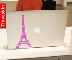 Eiffel Tower Decal for Macbook Pro Air or Ipad by Tloveskin, $8.99