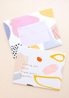 Pen Pal Letters, Karten Diy, Envelope Art, Envelope Design, Postcard Design, Diy Postcard, Happy Year, Stationery Design, Mail Art