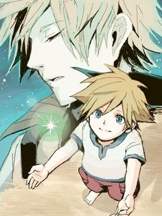 """Young Sora accepting Ventus into his heart. :3 """"You gave me something back that I needed most: a second chance!"""" -Ventus"""