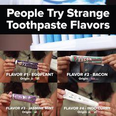 ¿Alguna vez te has aburrido de tu pasta dental? ¿Cuál de estos sabores raros te gustaría probar? :)