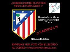 """Homenaje al Escudo de """"Forza Atleti"""""""