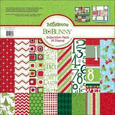 Kit-collection-BOBUNNY-NOEL-papiers-30x30-embellissements-lot-scrapbooking-Noel