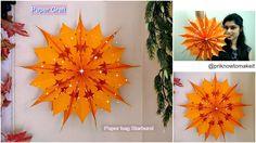 How to make paper bag star || Christmas decoration idea || paper bag sta...