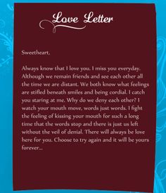 Share this short and wonderful love letter with your darling and ...