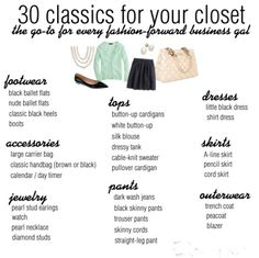 30 classics for the fashion forward business gal