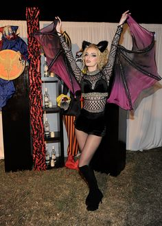 THE GOOD, THE BAD, AND THE UGLY - 64 AMAZING CELEBRITY HALLOWEEN COSTUME SNAPS!: Lydia Hearst showed off her wingspan in a moody bat costume in 2011