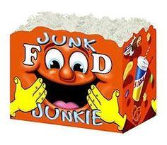 """Large Box Junk Food Junkie 10¼"""" x 6"""" x 7½""""-47400"""