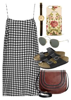 """""""Untitled #5729"""" by rachellouisewilliamson on Polyvore featuring Boutique, Tignanello, Birkenstock, Ray-Ban and Gucci"""
