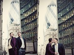 gay wedding at the gherkin!