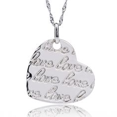 Cheap heart shaped pendant necklace, Buy Quality silver 925 necklace directly from China silver necklace Suppliers: YAFEINI Wholesale -Free PP* Hot Sell 925 Silver Jewelry, Heart Shaped Pendant Necklace Silver 925 Design Heart Shaped Necklace, Love Necklace, Silver Pendant Necklace, Sterling Silver Necklaces, Silver Jewelry, Silver Bracelets, Silver Earrings, Bangles, Heart Jewelry