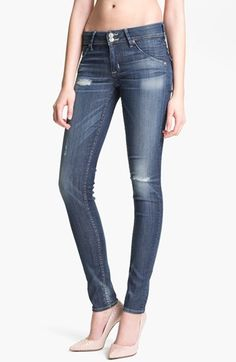 Hudson Jeans 'Collin' Distressed Skinny Stretch Jeans (Youth Vintage) available at Nordstrom