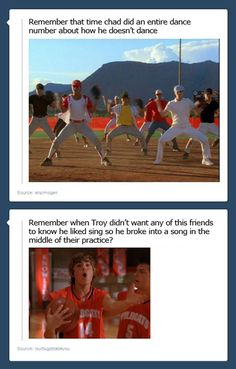 "High School Musical problems… Dont forget ""sticking to the status quo!"" when NO ONE stuck to it (see 1st movie)"