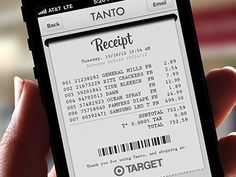Receipt concept for Tanto, a universal shopping assistant app for iPhone.