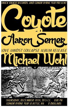 """Knick Knack Records artist Aaron Semer will be celebrating the release of his new solo album """"Love Amidst Collapse"""" at Conor Byrne Pub in Seattle on Thursday December 10 along with good friends and collaborators Michael Wohl and Coyote.  The album was engineered and co-produced by a frequent Knick Knack collaborator Colin J. Nelson at Her Car Studio in Seattle and mastered by Carl Saff in Chicago IL. On his new album, """"Love Amidst Collapse,"""" Aaron Semer strips his music down to the bare…"""