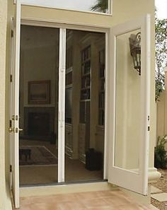 Add a retractable screen to your entry ways.