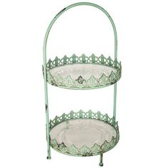 Get Antique Turquoise 2-Tier Filigree Tray online or find other Trays products from HobbyLobby.com