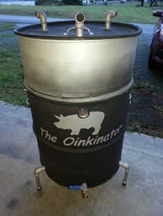 My own creation. Ugly drum smoker.