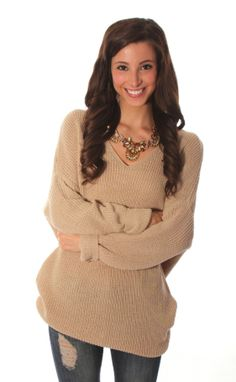 Riffraff | sweater weather sweater - taupe. This looks sooo comfortable and warm.