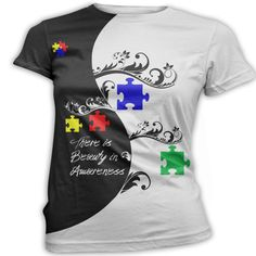 Autism Awareness TShirt Printed Graphic Top Custom by InkandRags, $29.00 Tom thought of you when I saw this on Etsy and had to pin