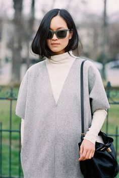 The lovely Maria Van Nguyen from Vanilla Scented blog, before Chloe, Paris, March 2014.