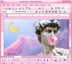 Image result for vaporwave oil painting