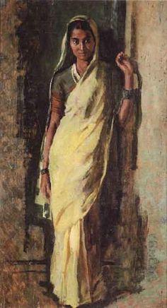Milkmaid by Gopal Damodar Deuskar | Blouin Art Sales Index