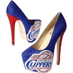 Los Angeles Clippers Ladies Crystal Pumps